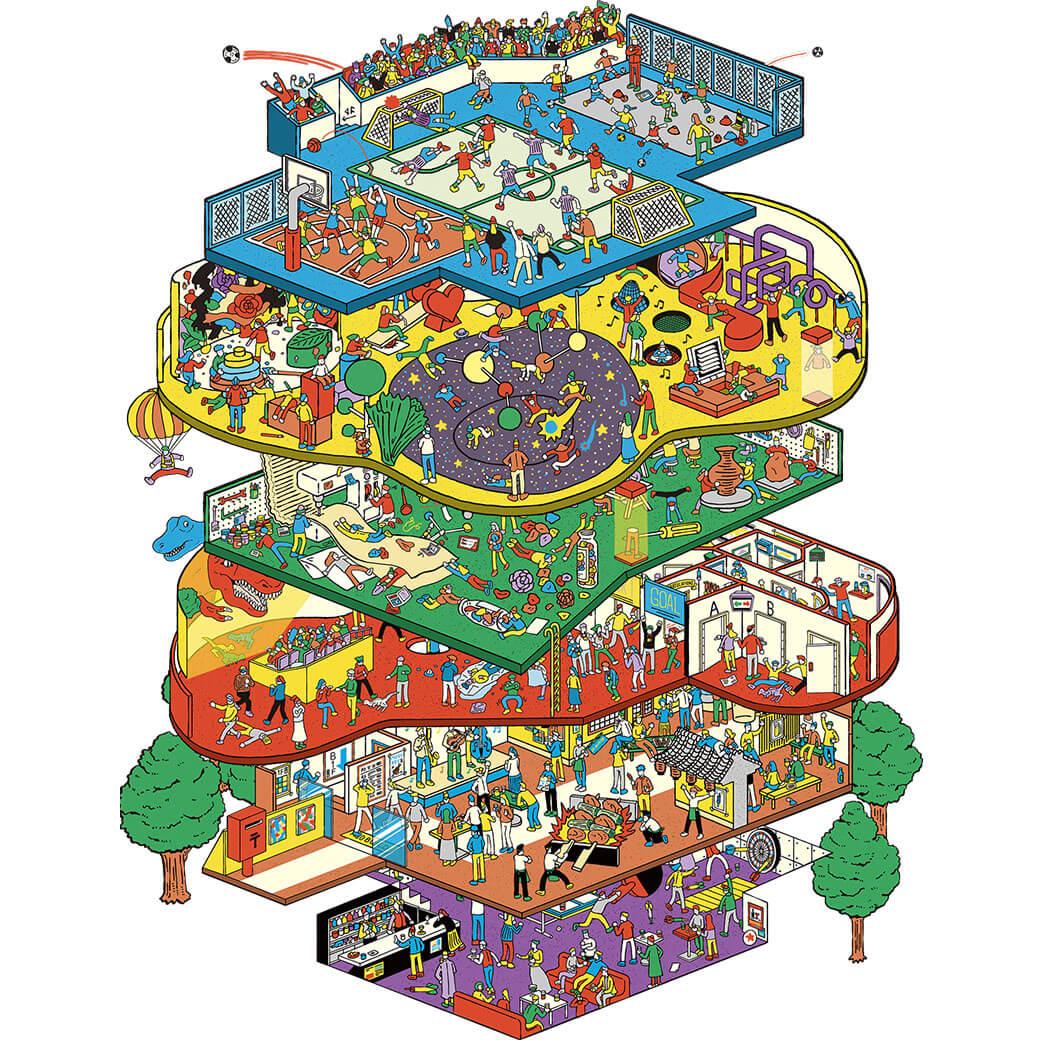 横浜駅直結のエンタメ施設「アソビル」が2019年春オープン。いつでも、誰とでも、一人でも楽しめる