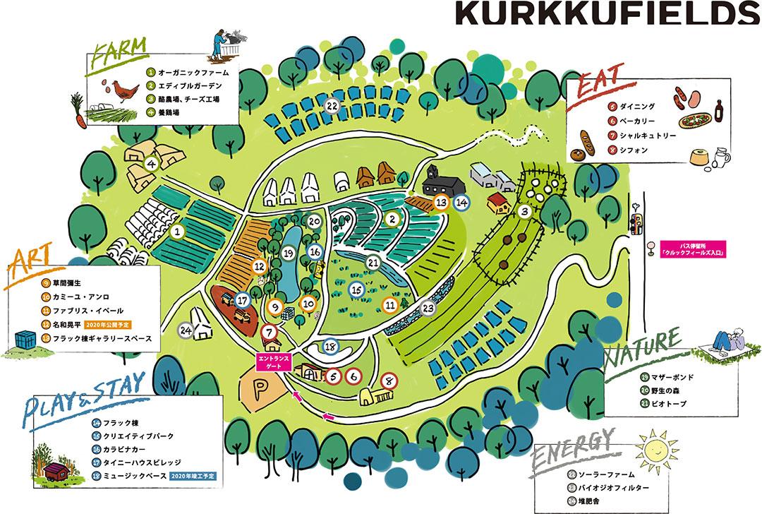 クルックフィールズ内の地図