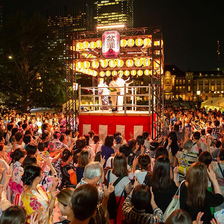 7月最後の金曜日は「丸の内盆踊り2019」で令和最初の盆踊り