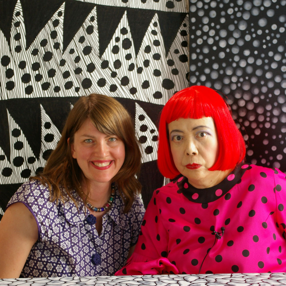 Director Heather Lenz and artist Yayoi Kusama in KUSAMA - INFINITY, directed by Heather Lenz. © Tokyo Lee Productions, Inc. Courtesy of Magnolia Pictures.