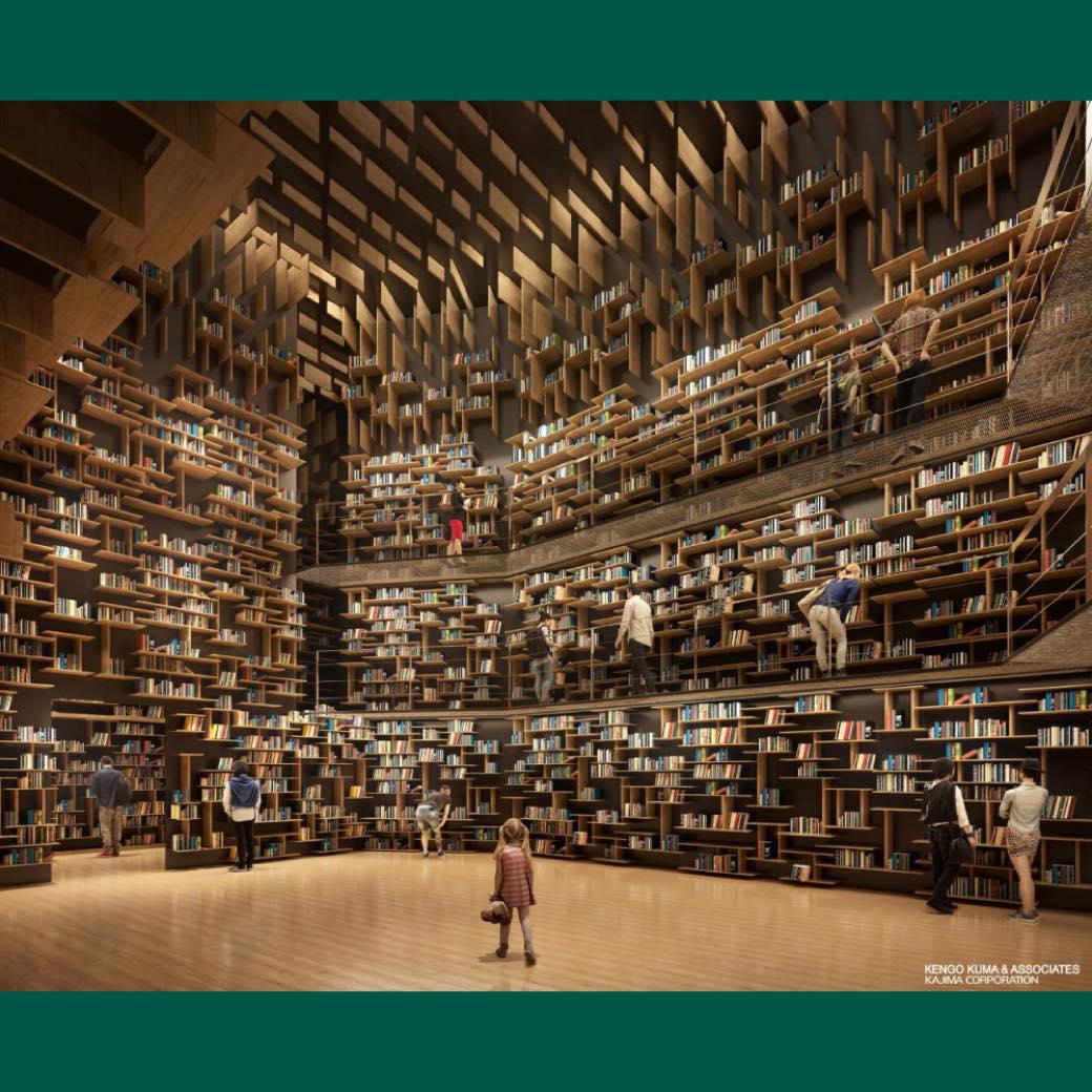 図書館と美術館と博物館が融合する新施設。角川武蔵野ミュージアムが誕生