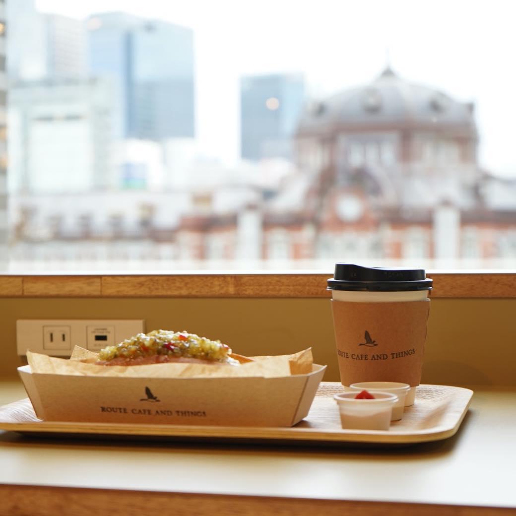 旅人の交差点・東京駅ならではのカフェ「ROUTE CAFE AND THINGS」
