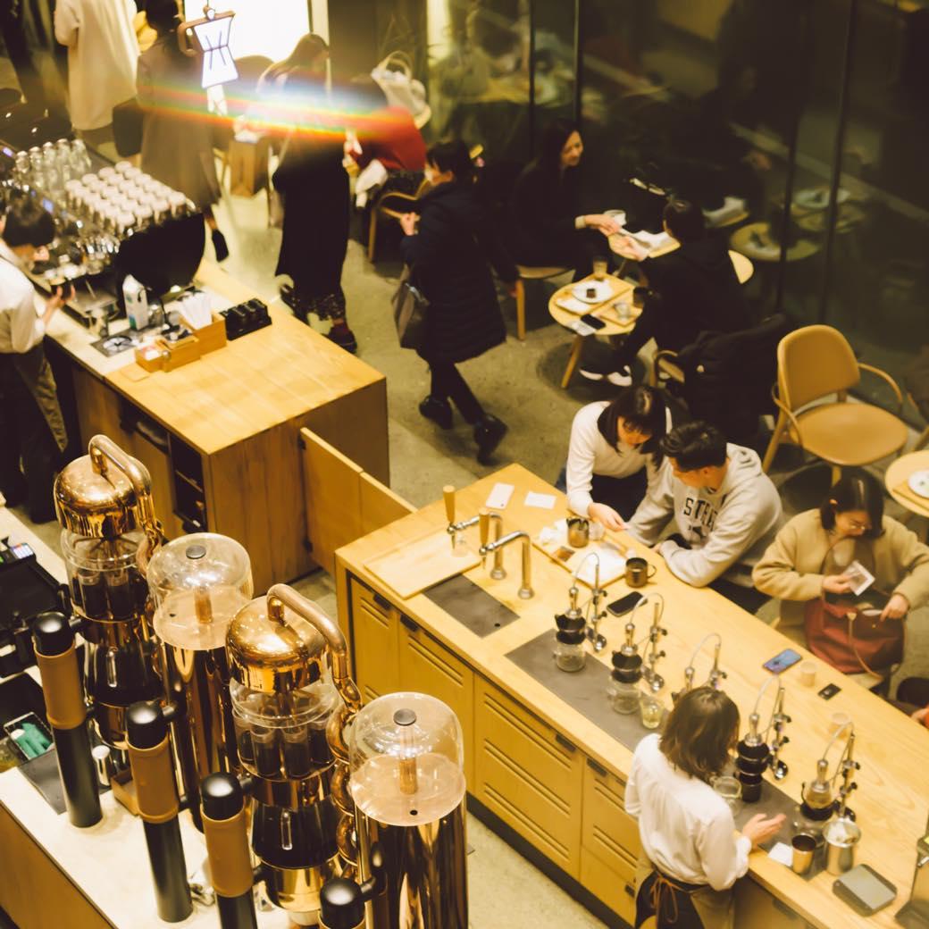 魅惑の夜カフェ inワンダーランド『スターバックス リザーブ® ロースタリー 東京』