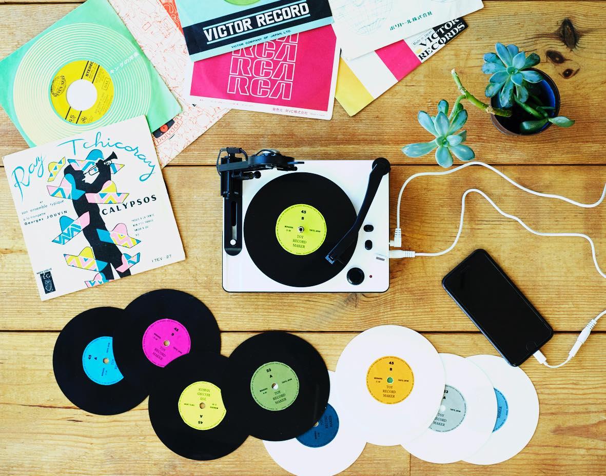 音を楽しむ新たな選択肢。自分で盤を刻む「トイ・レコードメーカー」登場