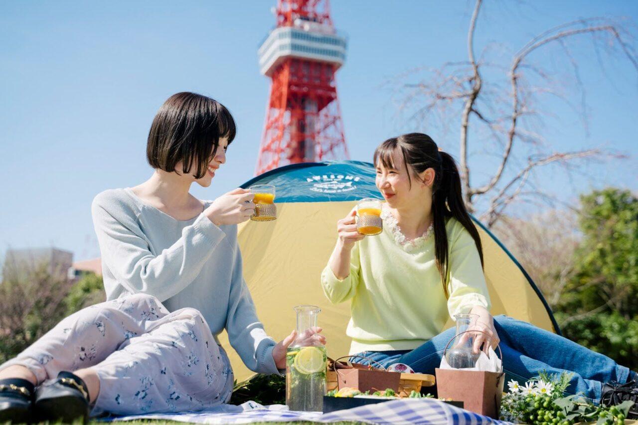 今年のGWは近場で旅気分。東京タワーの麓でピクニック「PARK DAY」
